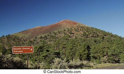 Sunset Crater Monument, Arizon, USA - Graded and stabilized...