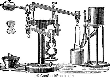 Machine Michaelis, vintage engraving.