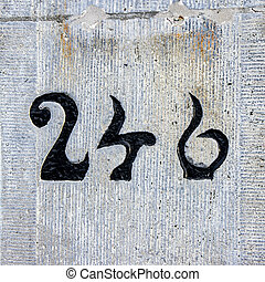 number 246 - house number two hundred and forty six
