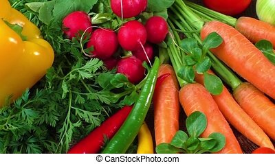 Fresh organic vegetables - Still life with various fresh...