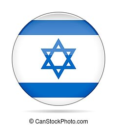 button with flag of Israel - button with national flag of...