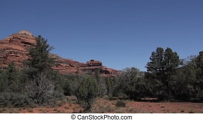 Red Rocks at Page Springs Desert, Arizona, USA - Native...