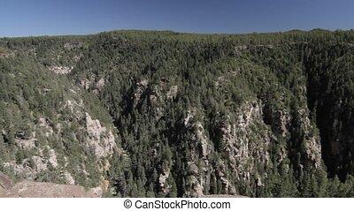 schlucht, an, Seite, Federn, Arizona, USA,