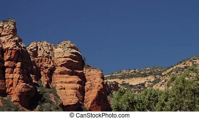Red Rocks at Page Springs Desert, Arizona, USA - Graded and...