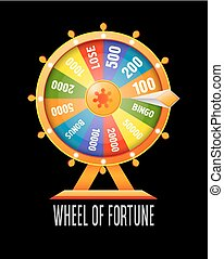 Wheel of fortune infographic design element.