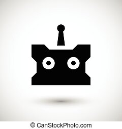 Remote control icon isolated on grey Vector illustration