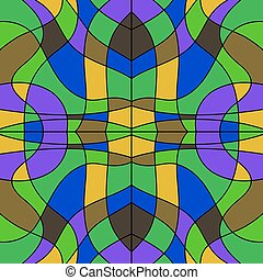 abstract colored stained glass - background mosaic