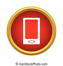 Smartphone icon in simple style - icon in simple style on a...