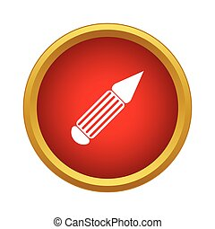 Pen icon in simple style