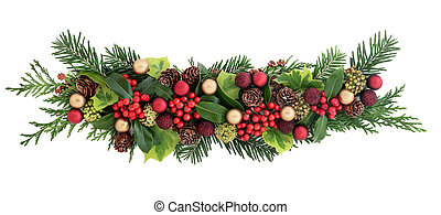 Decorative Christmas Display - Christmas decoration with red...
