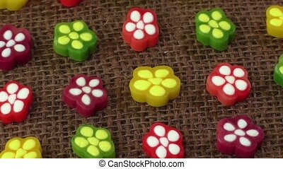 Colorful fruit jelly candy