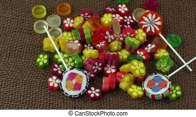 Colorful fruit jelly - Assortment of colorful fruit jelly...