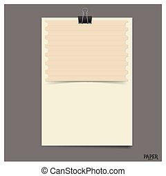 Old paper sheet, ready for your message. Vector illustration.