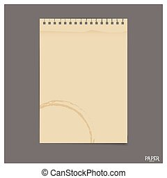 Collection of old paper sheet, ready for your message. Vector illustration.