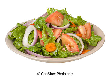 Tossed Salad - Tossed salad with lettuce, tomatoes, onions...