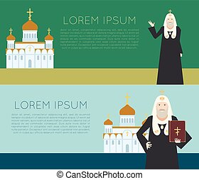 Orthodox Church Banner1 - Vector image of the orthodox...