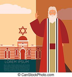 Moses Jew Banner - Vector image of the moses Jew Banner