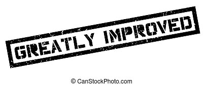 Greatly Improved rubber stamp on white Print, impress,...