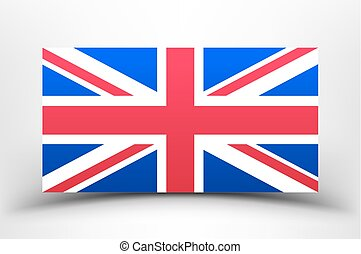 Britain Flag with soft shadow