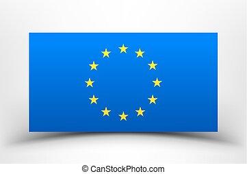 EU flag with soft shadow