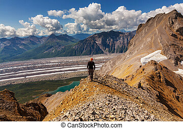 Hike in Alaska - Ascent to Donoho peak, Alaska
