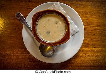 Vichyssoise Potato Leek Soup - Vegetarian potato and leek...