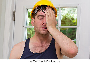 Construction Worker Man - Young handsome construction worker...