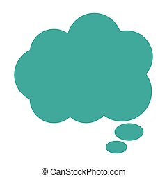 cloud conversation bubble icon