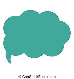 cloud conversation bubble icon