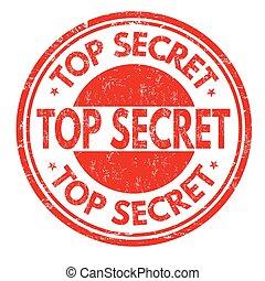 Top secret stamp - Top secret grunge rubber stamp on white...