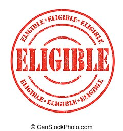 Eligible sign or stamp - Eligible grunge rubber stamp on...