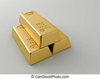 barras, blanco, Plano de fondo, oro