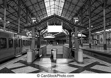 entrance to the station Rossio in Lisbon