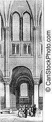 Twelfth century, Span of the apse of Saint Germain des Pres,...