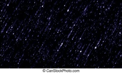 blue meteor shower in dark space
