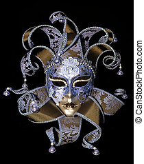 Venetian mask - Great traditional venetian mask on black...
