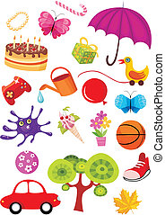holliday set - vector illustration of a holliday set