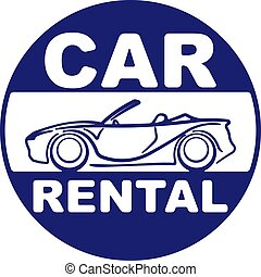 Car rental blue design for your application or logo with...