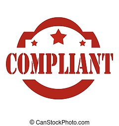 Compliant-red stamp - Red stamp with text Compliant,vector...