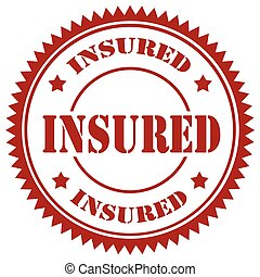 Insured-red stamp - Red stamp with text Insured,vector...