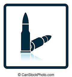 Rifle ammo icon. Shadow reflection design. Vector...