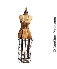 Antique dress form - Seamstress model-Antique dress form