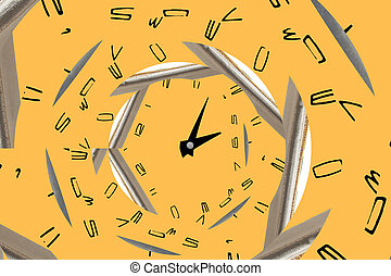 infinity spiral clock. Time concept. - infinity spiral...