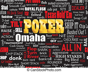 Poker Word Cloud on Black - Poker Word Cloud with Industry...