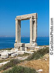 Apollo Temple Entrance, Naxos - Seascape with Portara,...