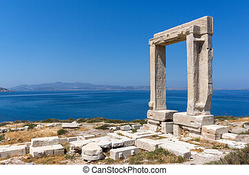Apollo Temple Entrance, Naxos - Amazing View of Agean sea...