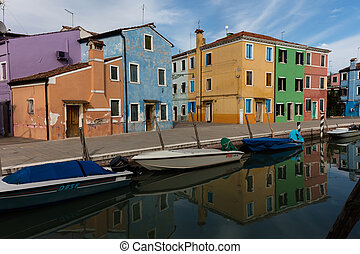Venetian island of Burano - The Venetian island of Burano is...