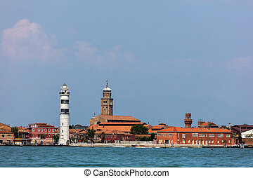 Faro di Murano Lighthouse and Murano island - Faro di Murano...