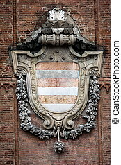 Medieval coat of arms of Cremona, Italy - Coat of arms of...