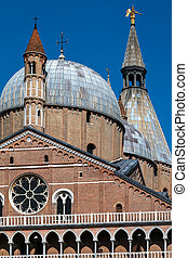 Basilica of Saint Anthony of Padua in Padua, Italy - Closeup...